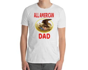 All American dad my best friend gift shirt with personalized custom vintage eagle is it a gucci shirt ready to put in his black tote bag