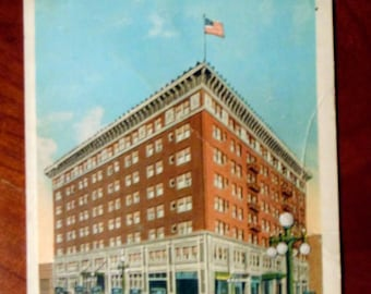 POSTCARD Early 1900s Hotel Deming Terre Haute Indiana