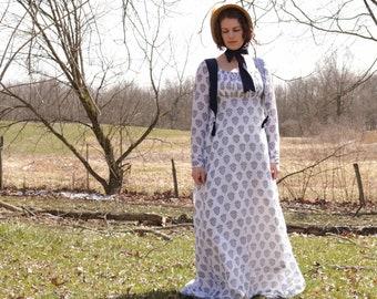 1812 Regency Dress and Vest