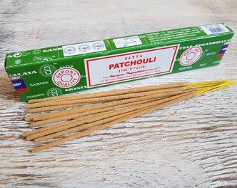 satya patchouli incense sticks.