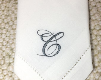 Bliss Monogrammed Napkins, wedding Embroidered Cloth Dinner Napkins, wedding linen napkins, elegant monogram, wedding napkins, personalized