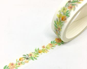 Flowers Garland Washi Tape 15mm x 5m