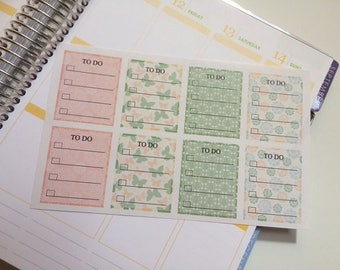 Planner Stickers To Do Full Box Stickers, Fits Erin Condren Planner, Stickers, Reminder Stickers