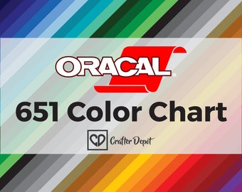 Oracal 651 Color Chart, Vinyl Color Chart, Color Sample, Sample Book, 651 Oracal Vinyl, Self Adhesive Vinyl, Permanent Vinyl