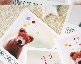 3 Christmas Gift Tags / Whimsical Animals / Tiny Art / Wrapping / Christmas