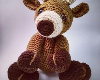 Reindeer. Stuffed reindeer. Christmas gift. Stuffed rudolph. Rudolph reindeer. Photo prop.