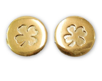 CHANEL Clover Earrings