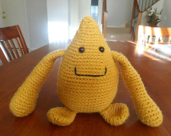 Cuddle monster crocheted child's toy