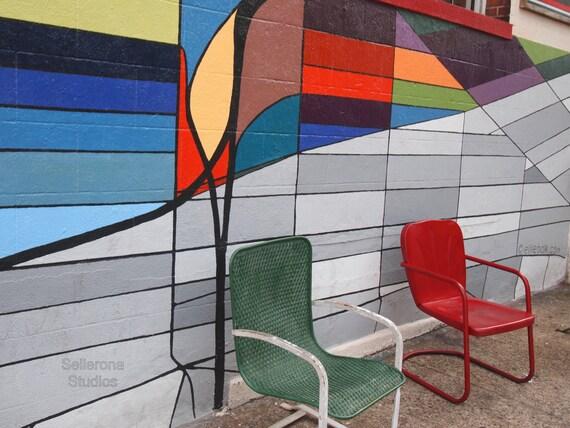 Graffiti Wall and Chairs