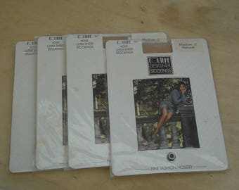 4 pairs of Couture designer stockings size med 38-39 colour natural