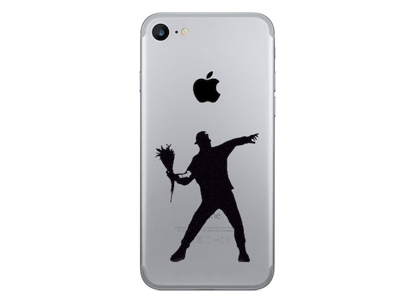 Banksy iphone 6 decals the flower thrower iphone 7 plus