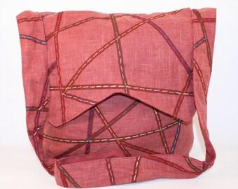 Red tote bag - Bohemian crossbody bag  - Red messenger bag - Red bohemian handbag