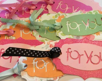 Tags Die Cut For You  You Get 12 Gift Tags With Ribbon Ties. Tags Cut From Quality Card Stock. Party Supplies Gift Tags Die Cut Tags