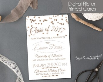 Graduation Announcement - College Graduation Invitation - High School Graduation - Graduation Party - Printable or Printed Cards