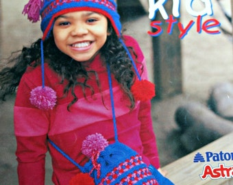 Sweater Knitting Patterns Hats Kid Style Beehive Patons 938 Children Cardigan Bag Hoodie Back Pack Vintage Paper Original NOT a PDF