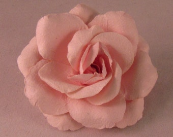Large Rose Lapel Pin - Light Pink - Men's Accessories- Everyday/Weddings/Proms Shabby Chic