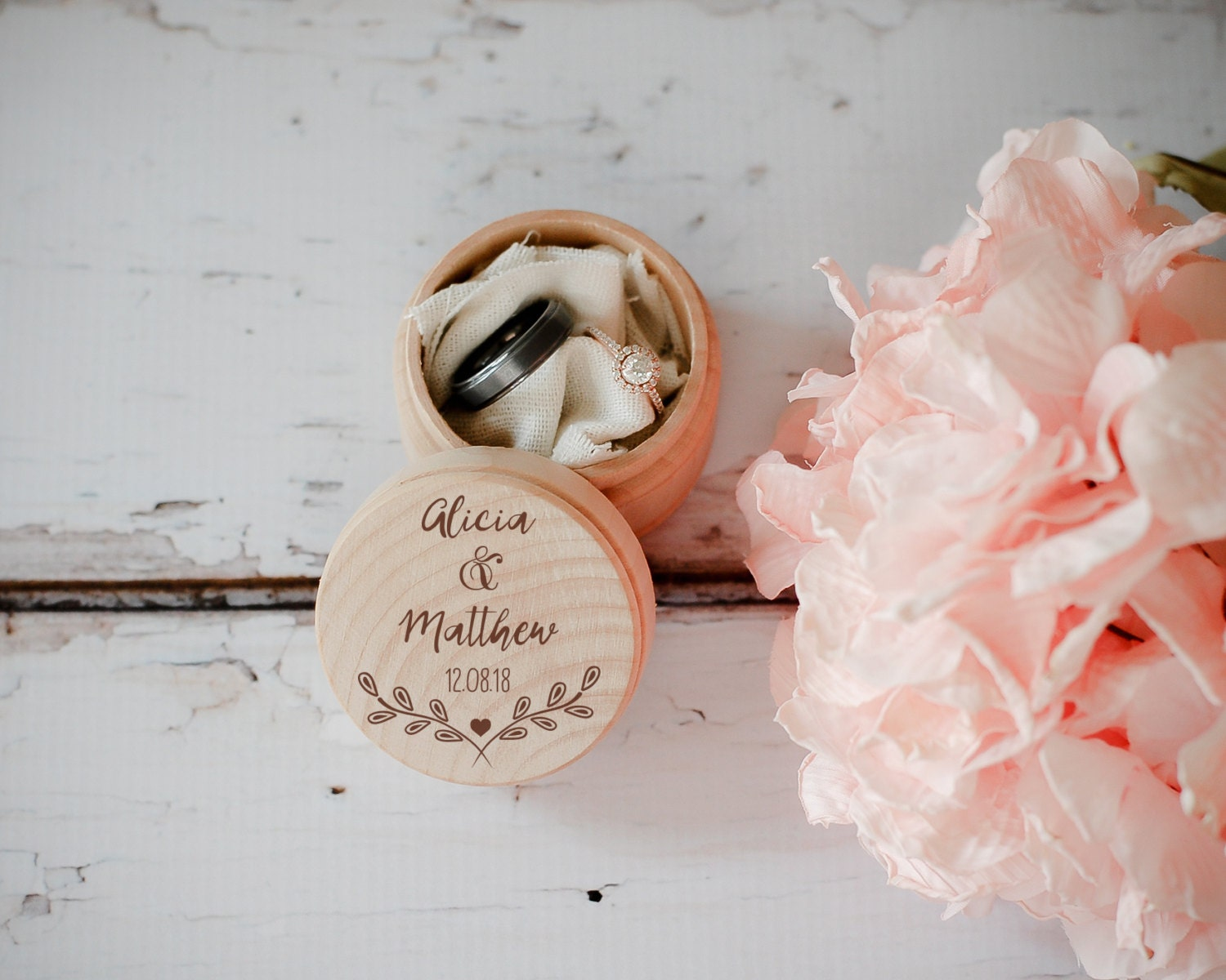 Wedding Gift Boxes: Engraved Wedding Ring Box Wooden Ring Box Wedding Gift Ring