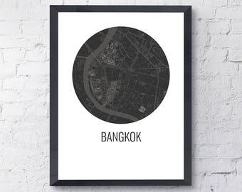 Bangkok map | Etsy