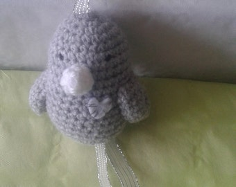 crochet bird plush toy