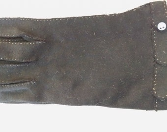 Vintage Black Gloves, with top-stitching