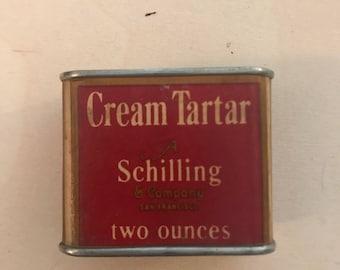 Vintage Cream Tartar Tin