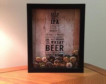 Beer Typography Shadow Box Art