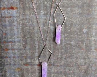 Geometric Gemstone Necklace