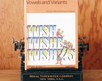 Vintage Vowels and Variants Activity Work Book - Level 3 - Unused