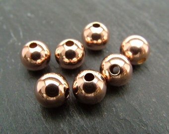 Rose Gold Filled Plain Bead 8mm