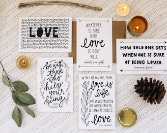 "Love 4""x6"" Greeting Card Set of 5"