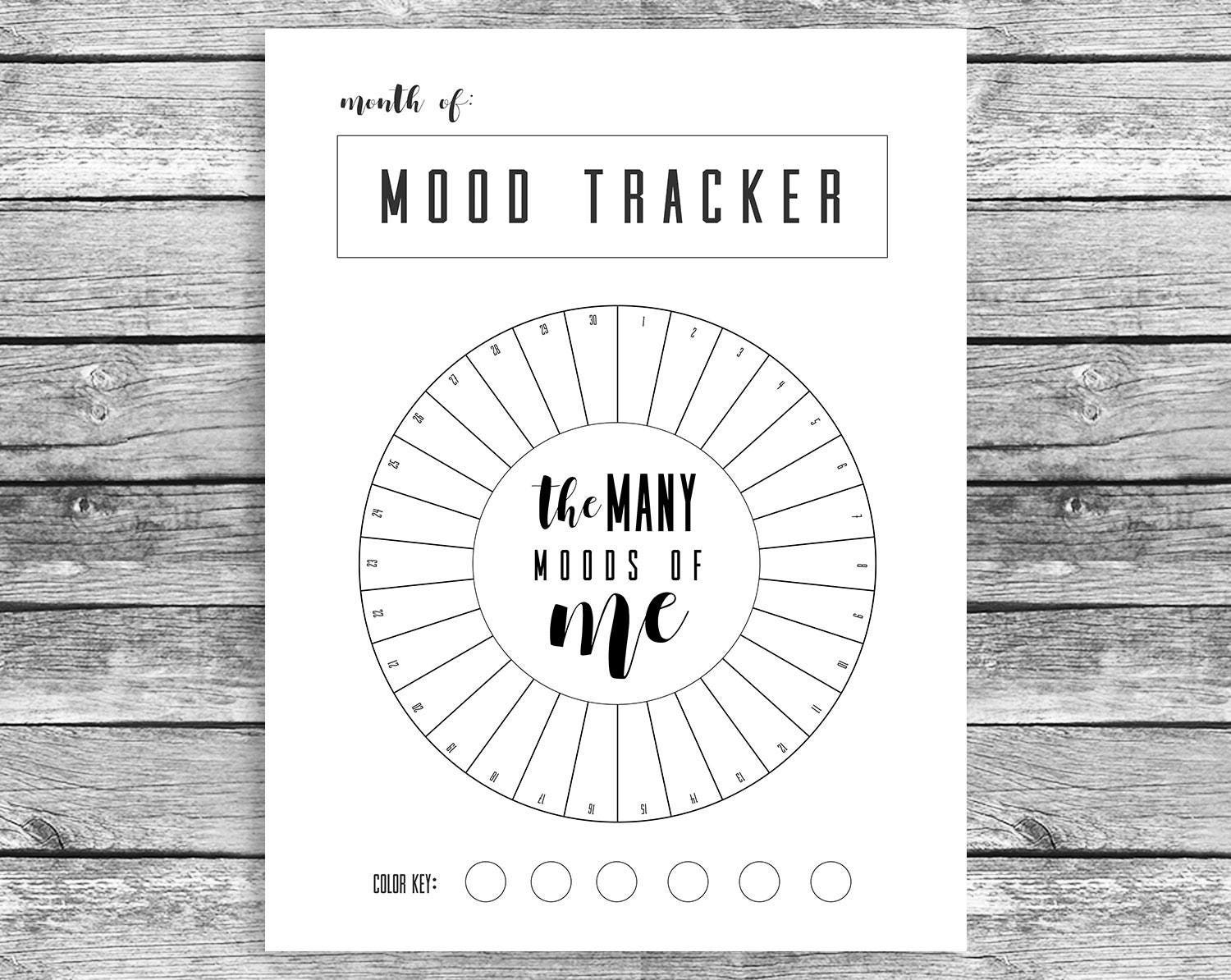 Divine image inside mood tracker bullet journal printable