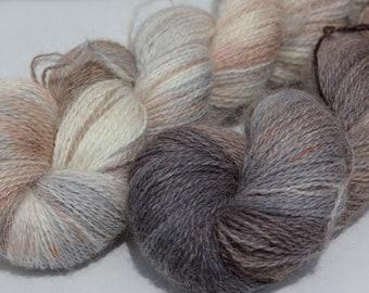 Lace weight alpaca yarn - 85g