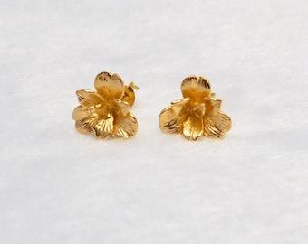 Stierling Silver Flower  Stud Earrings ,bridesmaid earrings,flower earrings,wedding earrings,flower earstuds,bridesmaid jewelry