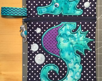 Seahorse Zippered Bag