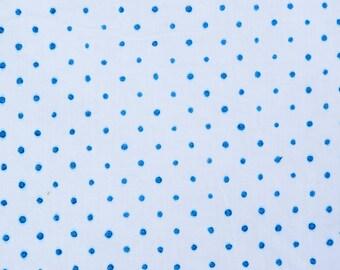 Hand Block Dot Print,Blue Color , 1 Yard