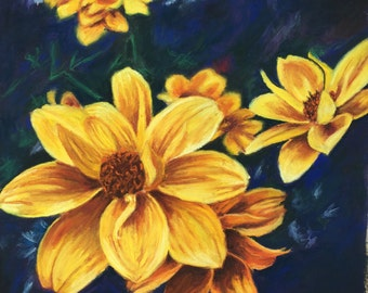 Yellow flowers, front porch