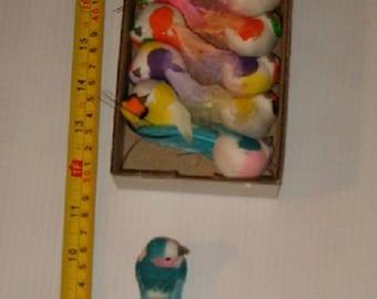"""12 New 3"""" Assorted Color Craft Birds, Wedding Decor , Christmas Decor , Etc."""