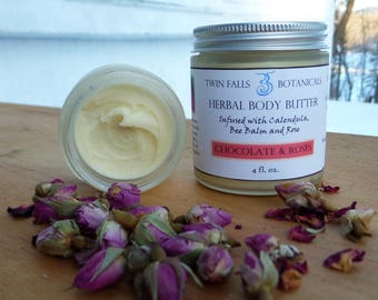 Herbal Body Butter - Chocolate & Roses scented