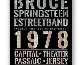 Framed Bruce Springsteen 11x17 Black Slim