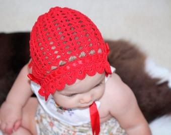 Willow Crochet Bonnet Baby Girl