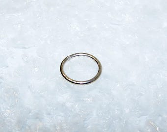 Ring silver soldered first title, round wire 1.2 mm, diameter 1.20 mm