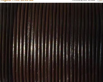 On Sale NOW 25%OFF 1mm BEST Quality European Leather Cord -  Dark Brown - 1 Meter