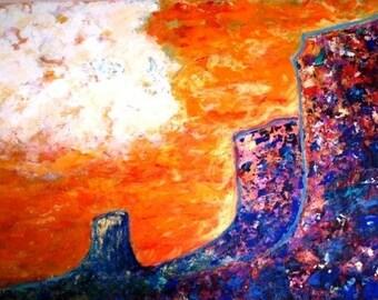 Yei Canyon-large acrylic painting