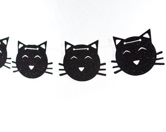 Kitty Cat Garland - Kitty Cat Banner - Kitty Cat Party Decor - Kitty Cat Birthday Party - Meow Meow Party - Meow Banner - Kitty Cat Party