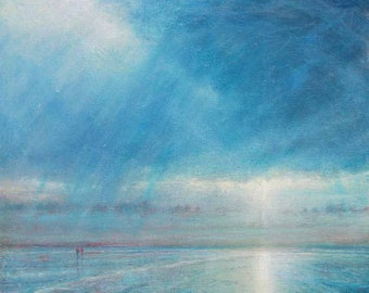 "Rainstorm Over Holkham Beach.   36"" x 30"""