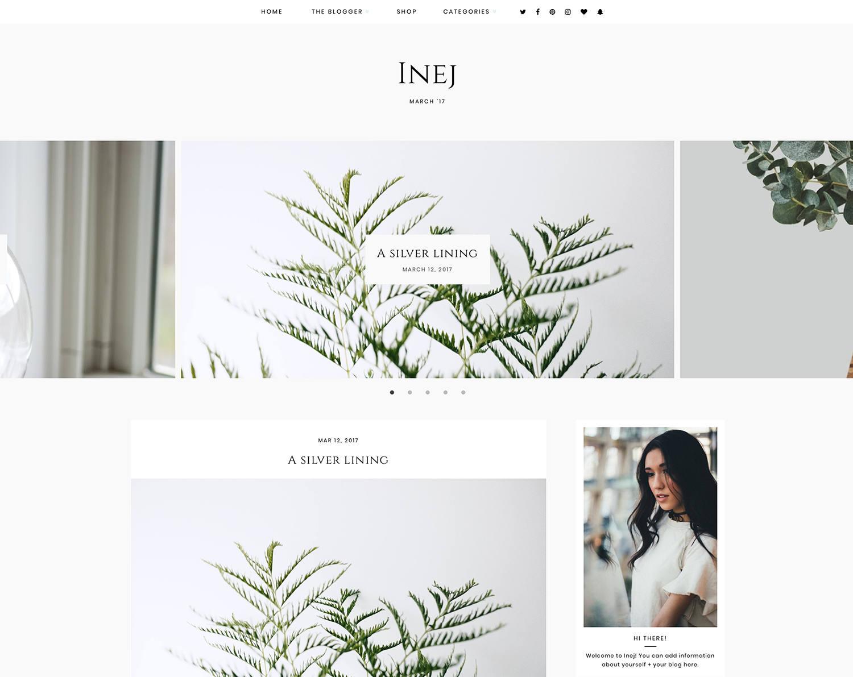 Inej Responsives Blogger-Vorlage kostenlose Installation