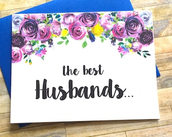 Pregnancy Announcement to Husband Card - Pregnancy Reveal to Husband - New Daddy Announcement - We Are Having a Baby - Pregnancy - VIOLETS