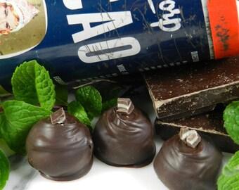 Assorted Chocolate Truffles,  Dark Chocolate, Chocolate Mint, Cinnamon, Espresso, Peanut Butter, Cookies and Cream Truffles