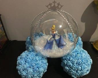 Cinderlella inspired carriage flower ball centrepiece