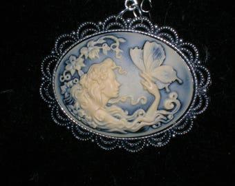 fantasy steampunk gothic victorian fairy pendant